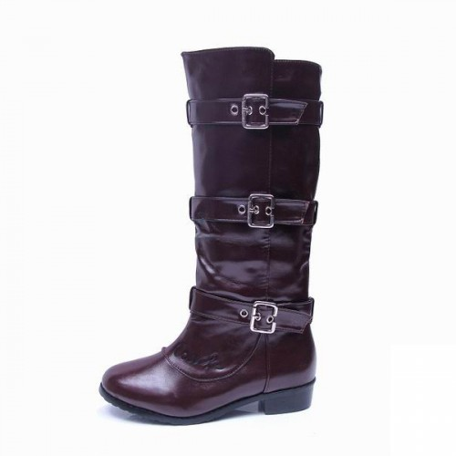 Coach Modern Buckles Coffee Boots CQZ