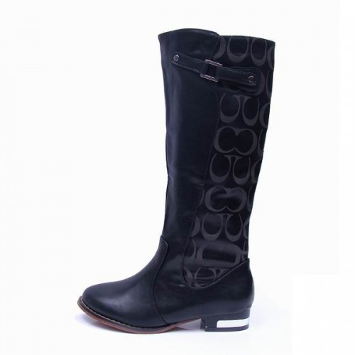 Coach lilac Black Boots CRB