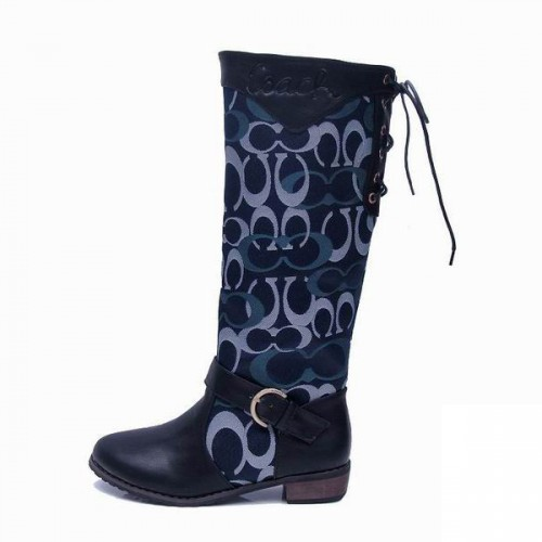 Coach Marni Riding Navy Boots CRC