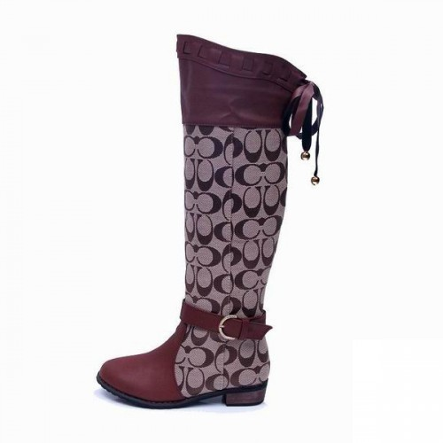 Coach Marni Signature Brown Boots CRF