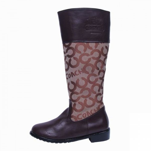Coach Signature Brown Boots CRI