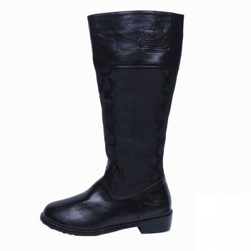 Coach Signature Black Boots CRJ