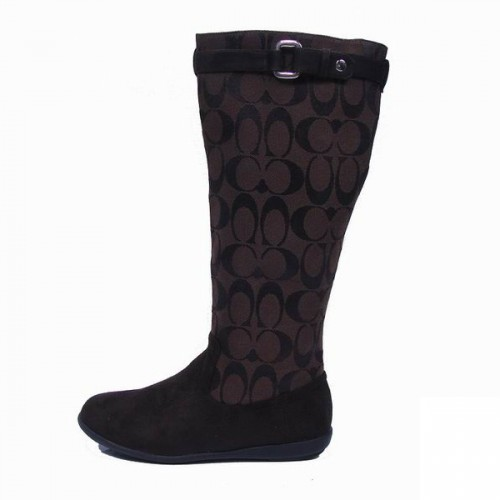 Coach lilac Signature Coffee Boots CRQ