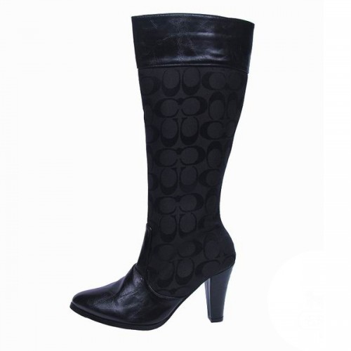 Coach Fashion Signature Black Boots CSX