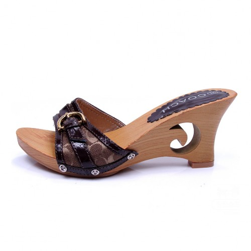 Coach Florence Coffee Wedges CTR
