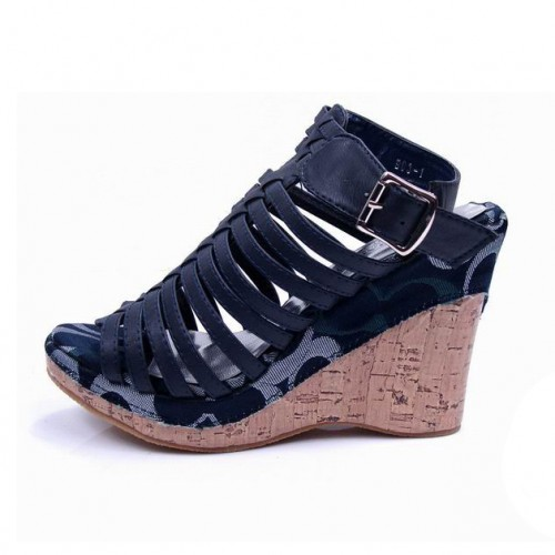 Coach Steve Navy Wedges CUQ