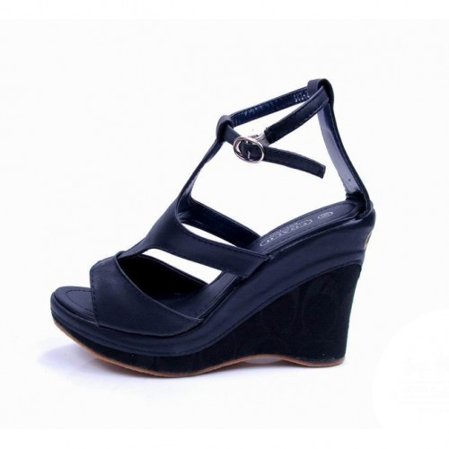 Coach Dolce Black Wedges CUW