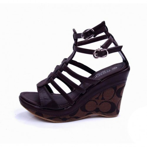 Coach Adrianna Coffee Wedges CUX