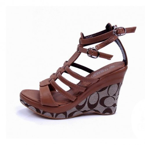 Coach Adrianna Brown Wedges CUY