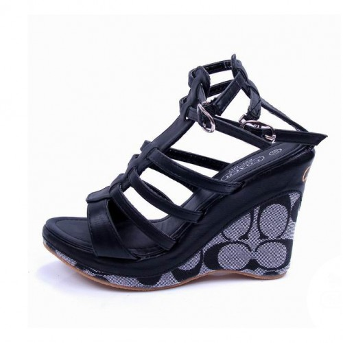 Coach Adrianna Black Wedges CUZ