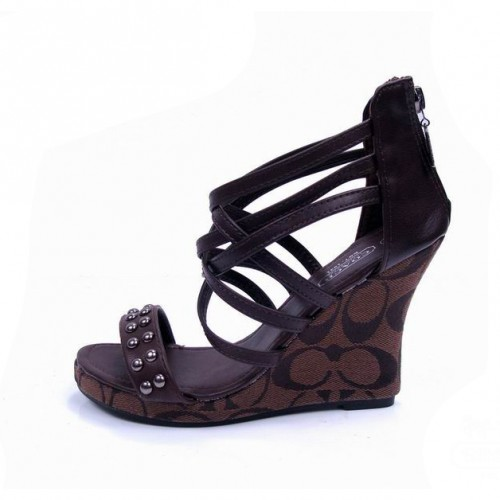 Coach Olivia Coffee Wedges CVA