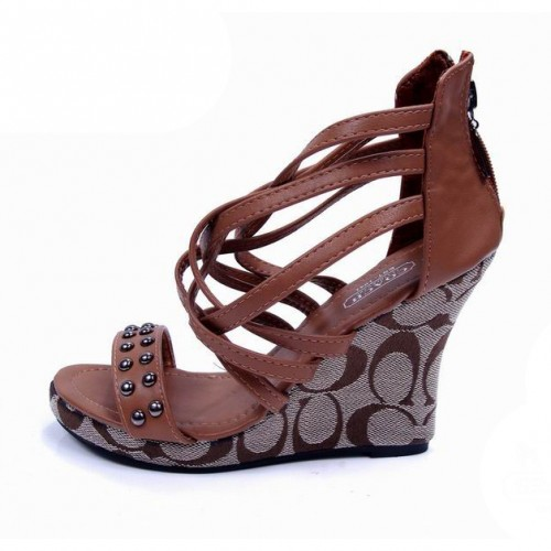 Coach Olivia Brown Wedges CVB