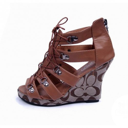 Coach Fergie Brown Wedges CVE