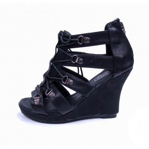 Coach Fergie Black Wedges CVF