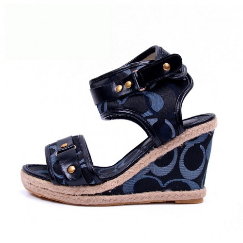 Coach Daryn Navy Wedges CVJ