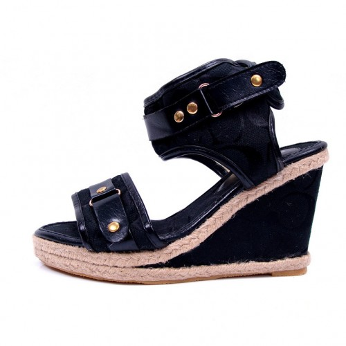 Coach Daryn Black Wedges CVL