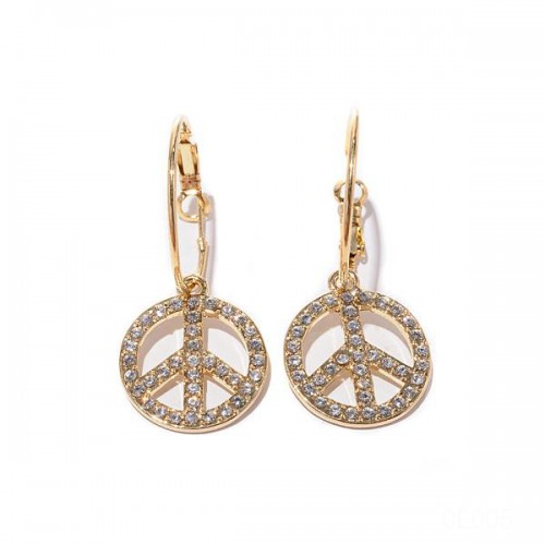 Coach Fly Logo Gold Earrings CVP