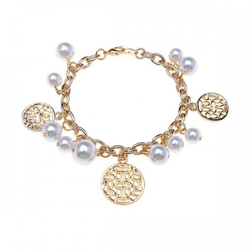 Coach Circle Charm Gold Bracelets CVS
