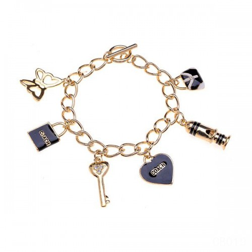 Coach Fashion Charm Black Bracelets CVV