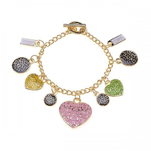 Coach Shine Heart Gold Bracelets CWO