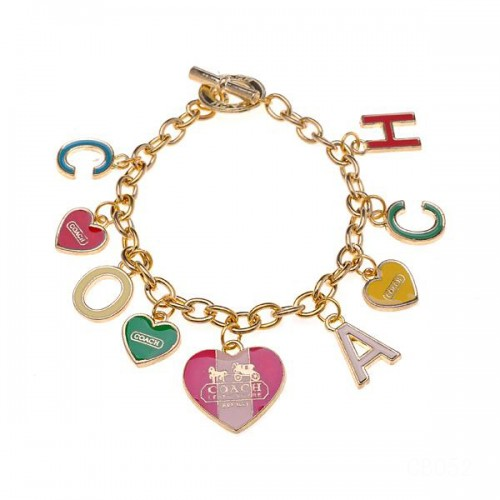 Coach Love Signature Gold Bracelets CXD