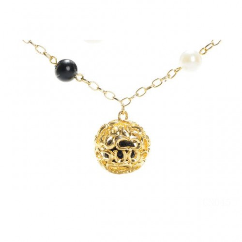 Coach Shine Ball Gold Necklaces CXW