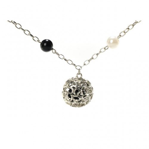 Coach Shine Ball Silver Necklaces CXX
