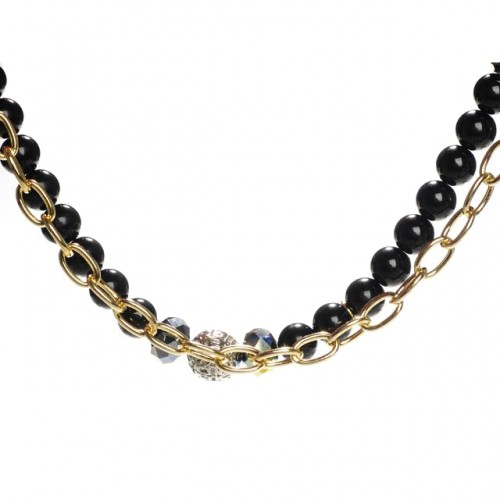 Coach Belle Pearl Black Necklaces CZX