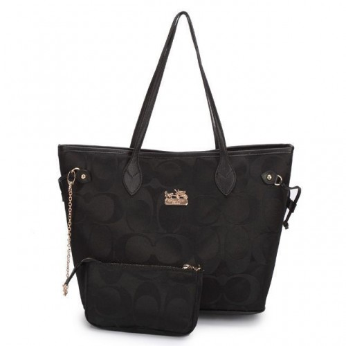 Coach Legacy In Monogram Medium Black Totes DCF