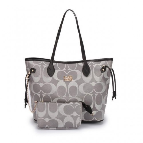 Coach Legacy In Monogram Medium Grey Totes DCG