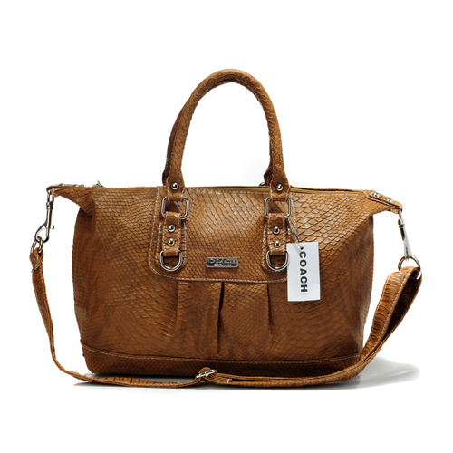 Coach Embossed Medium Brown Satchels DDV