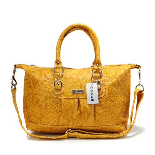 Coach Embossed Medium Yellow Satchels DDX