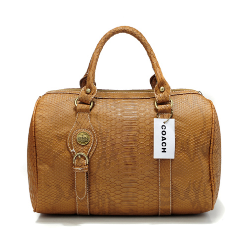 Coach Embossed Medium Brown Luggage Bags DEF