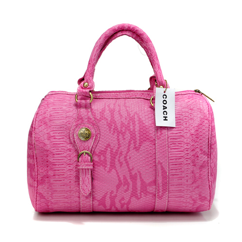 Coach Embossed Medium Pink Luggage Bags DEI