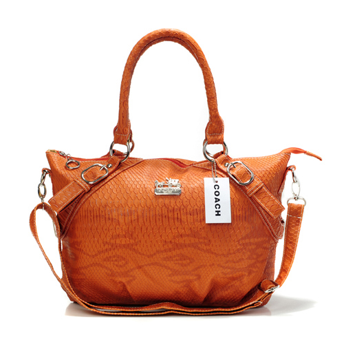 Coach Madison Embossed Medium Orange Totes DEQ