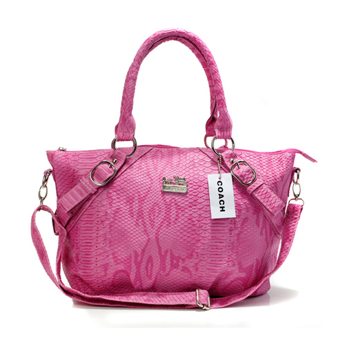 Coach Madison Embossed Medium Pink Totes DES
