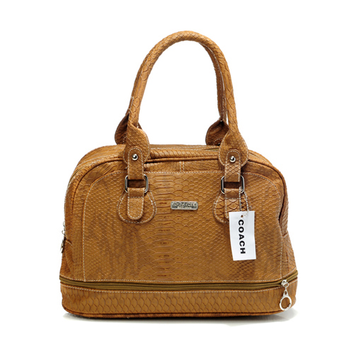 Coach Madison In Embossed Medium Brown Satchels DFE