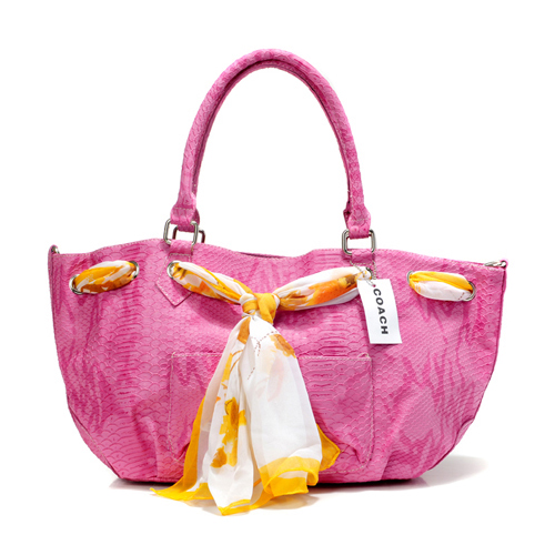 Coach Embossed Scarf Medium Pink Totes DFM