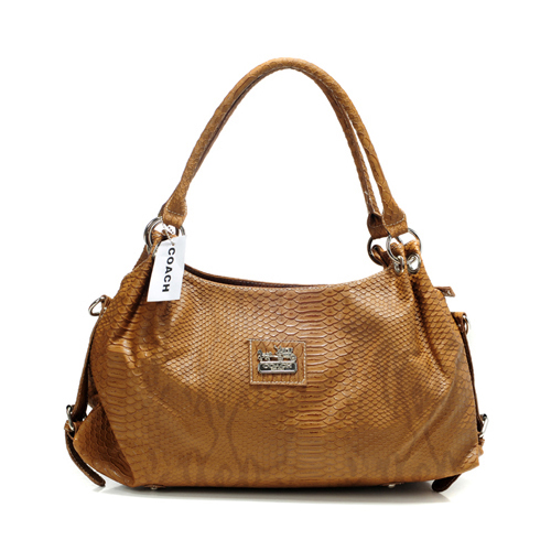 Coach In Embossed Medium Brown Satchels DFO