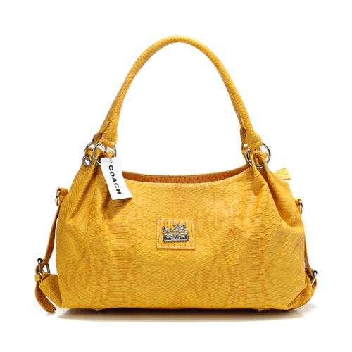 Coach In Embossed Medium Yellow Satchels DFQ