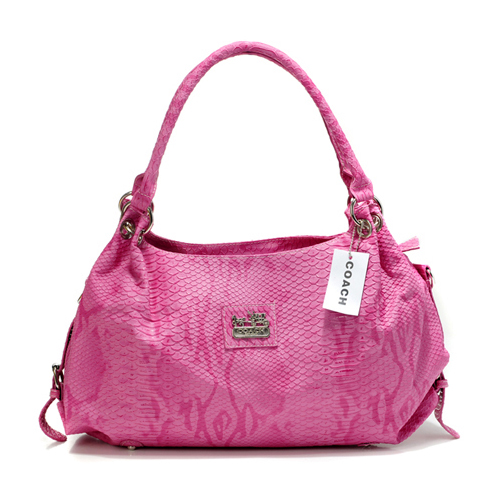 Coach In Embossed Medium Pink Satchels DFR