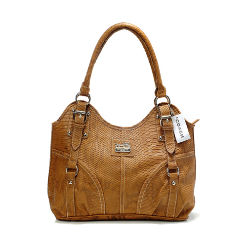 Coach In Embossed Medium Brown Satchels DFT