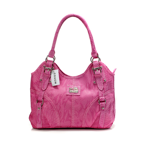 Coach In Embossed Medium Pink Satchels DFW