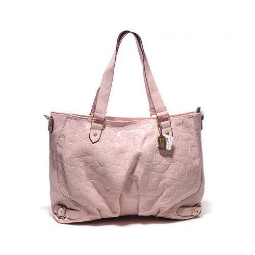 Coach Embossed In Monogram Large Pink Satchels DGG
