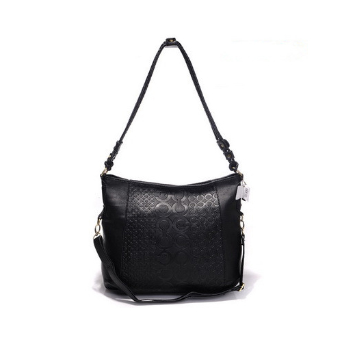 Coach In Monogram Medium Black Crossbody Bags DGR
