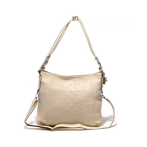 Coach In Monogram Medium White Crossbody Bags DGT
