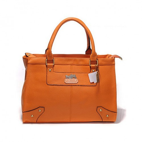 Coach Borough Large Orange Satchels DHA