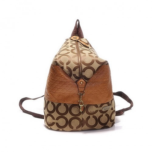 Coach In Monogram Medium Khaki Backpacks DHC