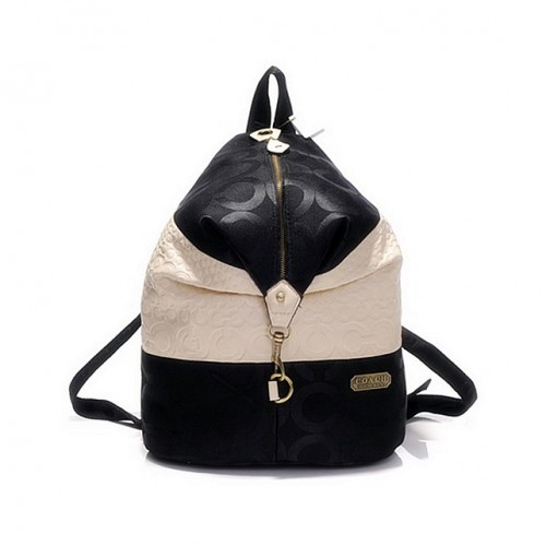 Coach In Monogram Medium Black Backpacks DHF