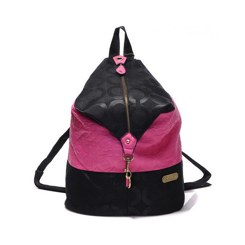 Coach In Monogram Medium Pink Backpacks DHG